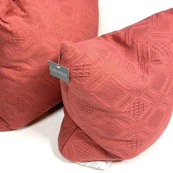Ralph Lauren Home Other - Ralph Lauren New Diamond Weave Pillows Red Knit